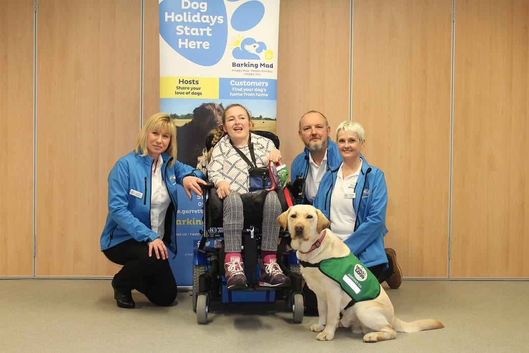 Barking Mad Milton Keynes and Dogs for Good unite at the Dogs for Good headquarters in Banbury