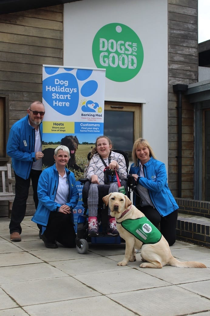 Dogs for Good headquaters in Banbury with Barking Mad Milton Keynes
