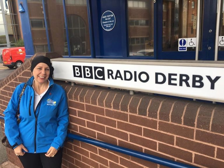 Nicola Fairbrass Of Barking Mad Derby Visiting Radio Derby