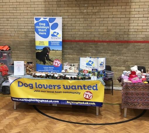 Barking Mad Dog Sitting Hastings at Barby Keel Christmas Bazaar,