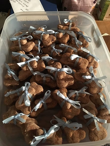 Home made dog biscuits for Barking Mad Hastings