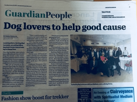 Barking Mad Lancaster dog sitters feature in the Lancaster Guardian newspaper
