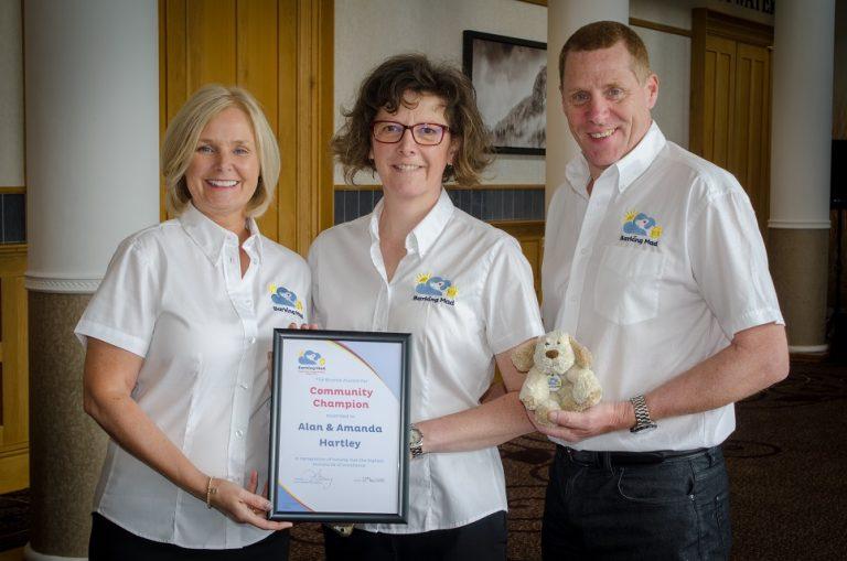Brand Builder award alan and amanda hartley lee dancy conference 2018 barking mad dog sitting leeds
