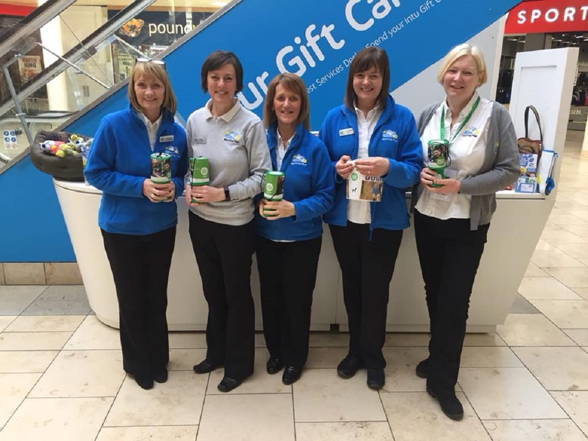 The barking mad north east ladies raising money for dogs for good at the metro centre.
