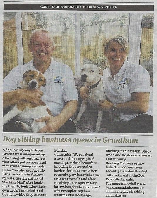 Barking Mad dog sitting news in Grantham Journal