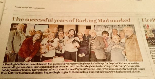 Bognor Observer covers Barking Mad Party
