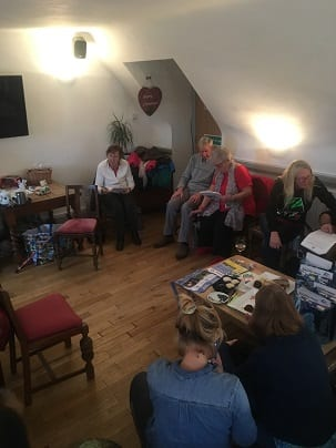 Cornwall hosts enjoying a coffee morning