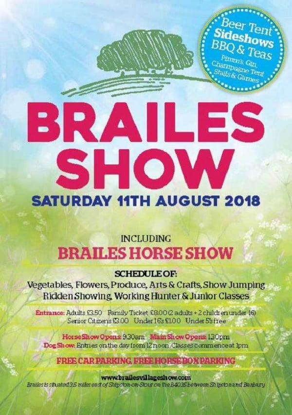 . One of the biggest in the area, Brailes Show promises all kinds fun and intriguing things to see and do.
