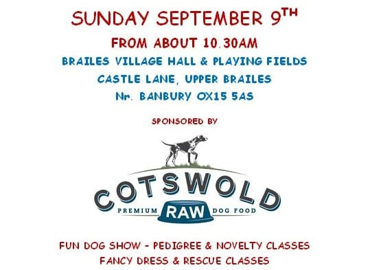 A dedicated charity pooch show, Mila's Funday in Brailes nr Banbury promises all kinds of dog fun and frolics.