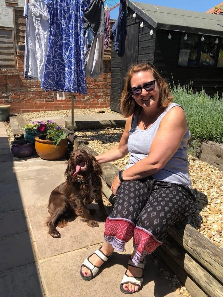 Bailey from Grantham with host Marcie in Foston