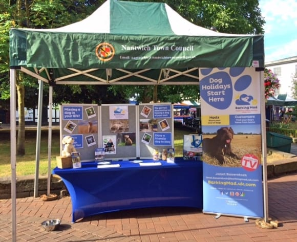 Barking Mad all set up and ready to go at Nantwich Societies Spectacular