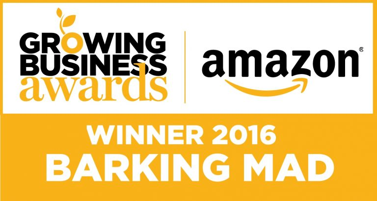 Amazon Growing barking mad business awards Winner 2016
