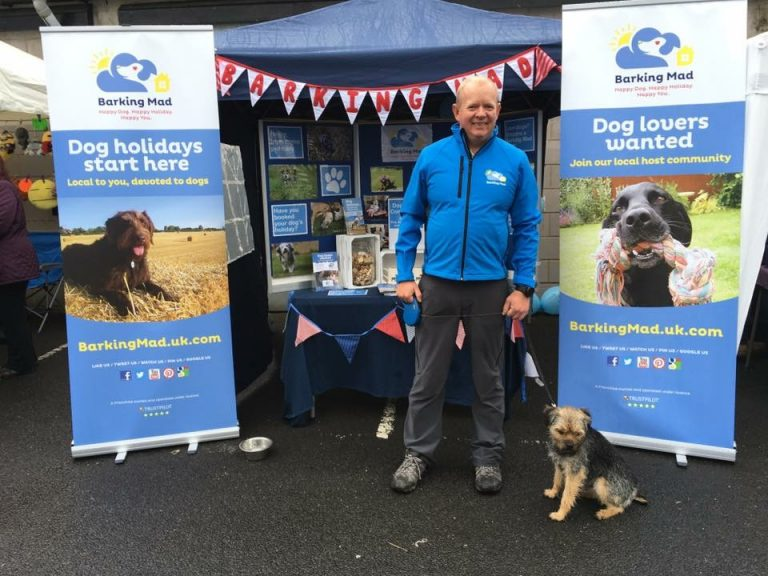 Kevin Matthews Barking Mad Central Lancashire Stand At Show Dog Sitting Home Boarding