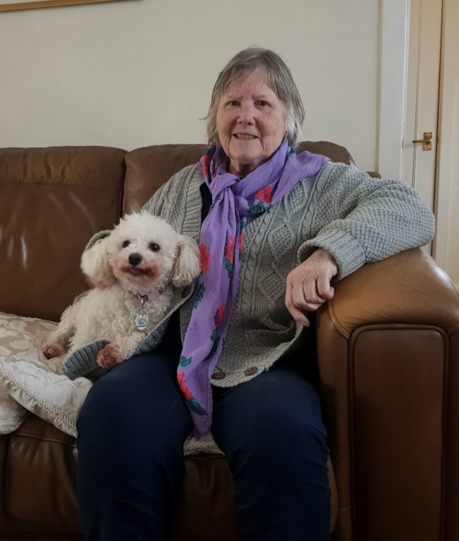Retiree Beryl With Holidaying Dog, Belle Barking Mad Home Boarding
