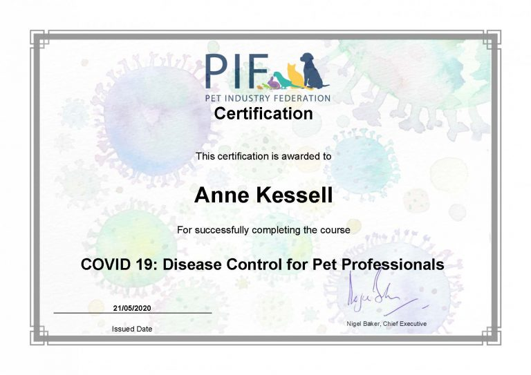 Certification Covid 19 Disease Control For Pet Professionals Akessell