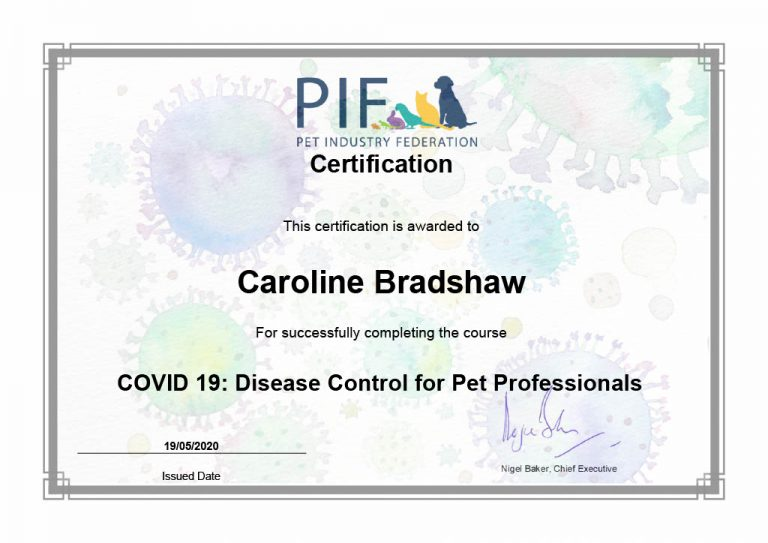 Certification Covid 19 Disease Control For Pet Professionals Caroline1024 1