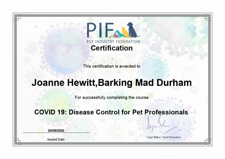 Certification Covid 19 Disease Control For Pet Professionals Joanne1024 1