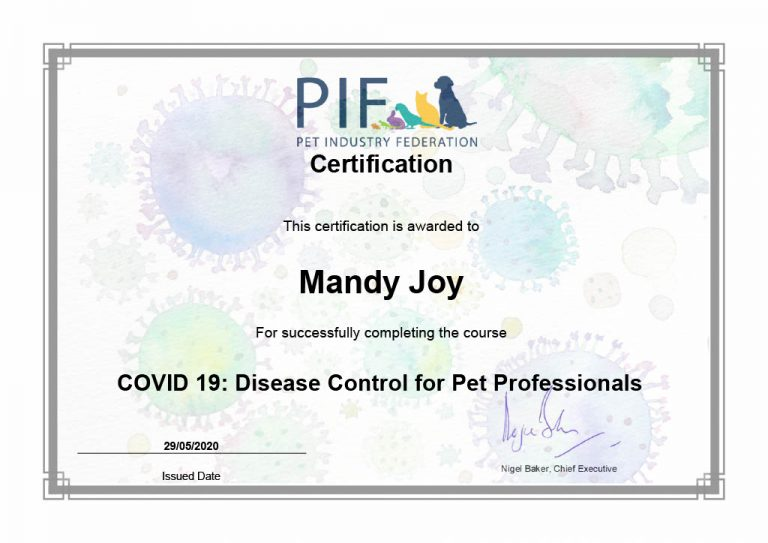 Certification Covid 19 Disease Control For Pet Professionals Mandyjoy1024 1