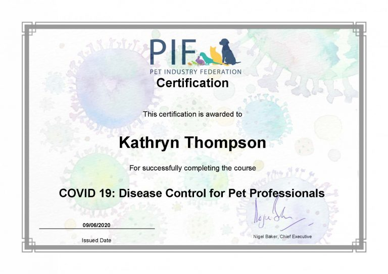 Certification Covid 19 Disease Control For Pet Professionals Thompsk (1)