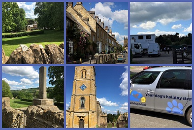 2 Barking Mad Banbury Dog Care Spending The Day Marketing In The Very Charming (and Now Famous) Village Of Blockley.