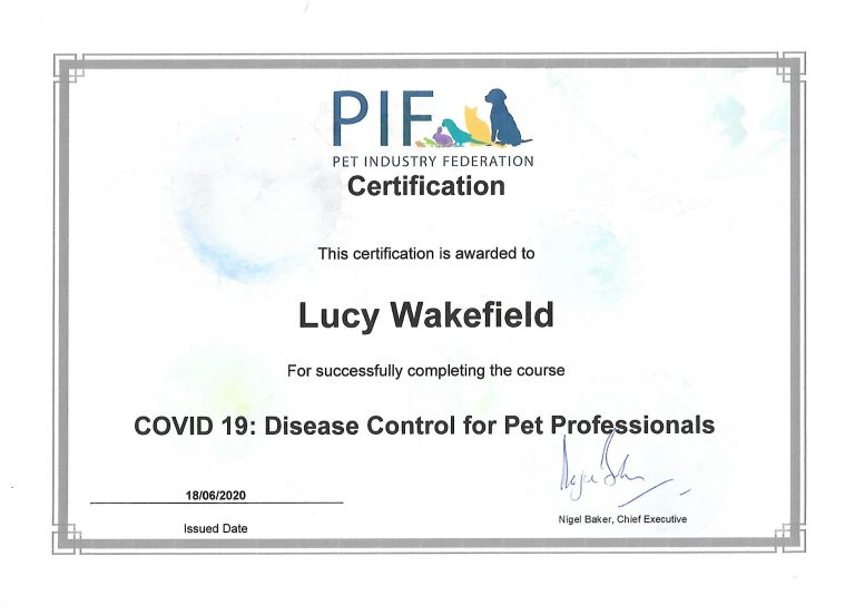Covid 19 Disease Control For Pet Professionals