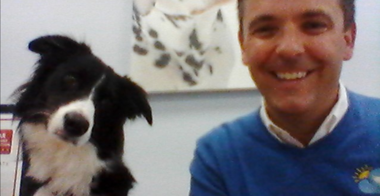 Richard And Paddy Dog Webinar for Bring Your Dog to Work Day
