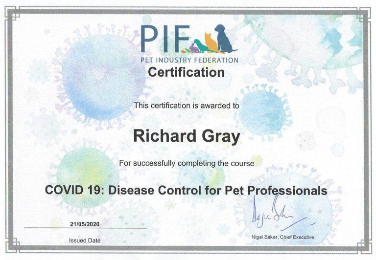 Covid 19 Pif Certificate