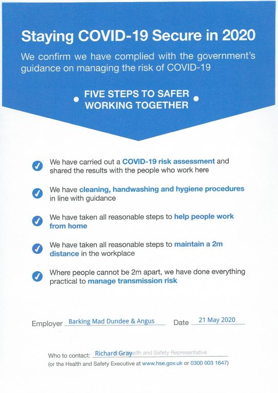 Staying Covid 19 Secure Poster